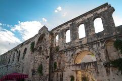 Diocletian pałac, Rozszczepiony Chorwacja Fotografia Royalty Free