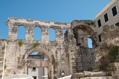 Diocletian Palace. Ruins of the Diocletian Palace, Split, Croatia Royalty Free Stock Photography