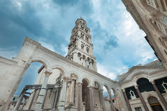 Diocletian palace. The bell tower of the diocletian palace in Split, Croatia Royalty Free Stock Photos