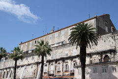 Diocletian palace. Ruins of Diocletian palace in Split, roatia Stock Photos