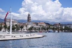 Diocletian palace, old historic town Split, Croatia, Europe. Summer sunny touristic season Stock Photography