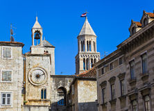 Diocletian palace in Split, Croatia. Architecture travel background Stock Image