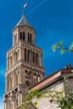Diocletian palace tower in Split stock photo