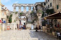 Diocletian ` s宫殿银色门,分裂,克罗地亚 库存照片