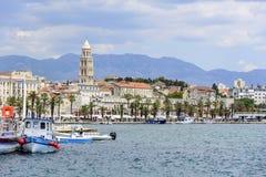 Diocletian ` s宫殿 宽容克罗地亚首先介绍质量教士被分裂对白话谁 免版税图库摄影