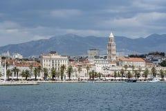 Diocletian ` s宫殿 宽容克罗地亚首先介绍质量教士被分裂对白话谁 库存照片