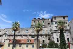 Diocletian ` s宫殿 库存照片