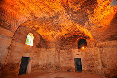Diocletian's Palace. The ancient roman emperor Diocletian's Palace, UNESCO listed, Split, Croatia.  These massive vaults underpin the old town above Royalty Free Stock Photo