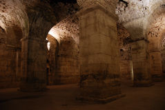 Diocletian's Palace. Basement in the UNESCO listed emperor Diocletian's Palace in Split, Croatia Stock Photography