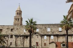 Diocletian`s Palace. Is historical place in Split city, Croatia Royalty Free Stock Images