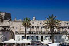 Diocletian`s Palace. Sphinx i Diocletian`s Palace - famous UNESCO World Heritage Site. Split - Croatia Stock Image