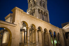 Diocletian s palace in split. Croatia, at night Royalty Free Stock Photos