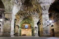 Diocletian-` s Palast in der Spalte, Kroatien stockbilder