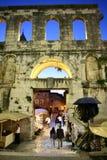 Diocletian slott i splittring Arkivbilder