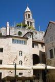 Diocletian slott i splittring, Kroatien Royaltyfri Foto
