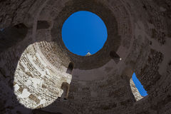 Diocletian slott, splittring Arkivfoto