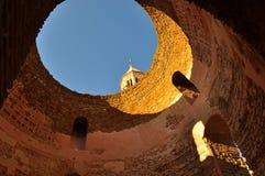 Diocletian& x27; s-slott i splittring, Kroatien Royaltyfri Bild