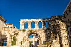 Diocletians宫殿,分裂,克罗地亚, 库存图片