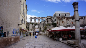 Diocletians borggård Royaltyfria Bilder