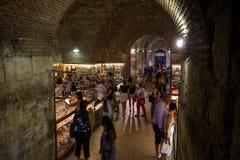 Diocletians underjordiskt komplex för slottar i splittring Royaltyfri Foto