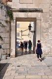 Diocletianus slott i splittring, Kroatien Royaltyfria Foton