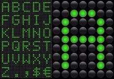 diod som sänder ut den ljusa panelen för info Arkivbilder