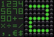 diod som sänder ut den ljusa panelen för info Arkivbild