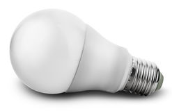 Diode bulb  on white background Royalty Free Stock Photo