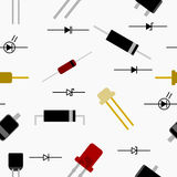 Diode Seamless Pattern Royalty Free Stock Photography