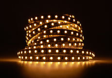 Diode strip. Led lights tape Royalty Free Stock Image