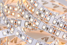 Diode strip. Led lights tape Royalty Free Stock Photography