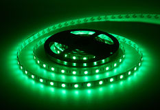 Diode strip. Led lights tape. Reel Royalty Free Stock Image