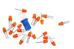 dioder som skiner Arkivbild