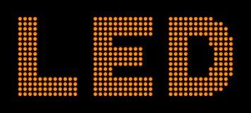 Diodes électroluminescentes Images libres de droits