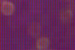 Diodo da ampola do diodo emissor de luz do close up painel da visualização ótica de monitor da tevê do diodo emissor de luz ou do Foto de Stock Royalty Free