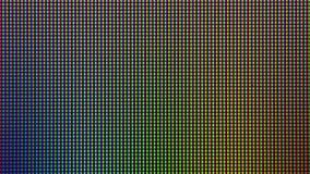 Diodo del bulbo del primer LED de la pantalla de visualización del monitor de computadora Fotografía de archivo libre de regalías