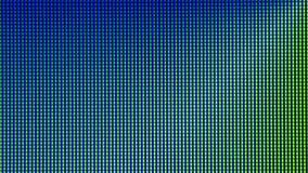 Diodo della lampadina del primo piano LED dallo schermo di monitor del computer Fotografie Stock