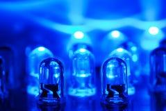 Diodo emissor de luz azul Fotografia de Stock Royalty Free