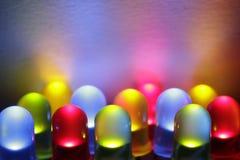 Diodo emissor de luz colorido Fotografia de Stock