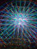 diodo emissor de luz colorido das luzes 3D azul a roda de ferris de Pigeon Forge da ilha fotografia de stock