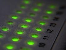 Diodo emissor de luz da rede do cubo fotos de stock
