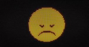 Diodo emissor de luz da tristeza do Emoticon video estoque