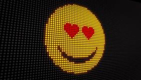 Diodo emissor de luz do amor do Emoticon ilustração do vetor