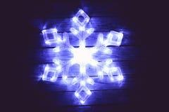 Diodo emissor de luz do floco de neve Imagens de Stock