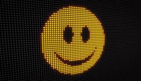 Diodo emissor de luz do sorriso do Emoticon Fotografia de Stock