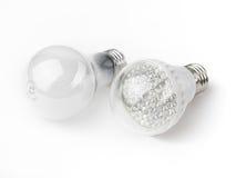 Diodo emissor de luz e ampolas Incandescent Imagem de Stock