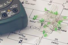 Diodo emissor de luz verde Fotografia de Stock