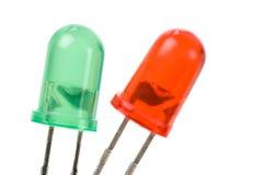 Diodo emissor de luz verde do vermelho Foto de Stock