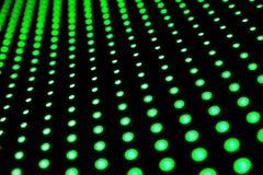 Diodos verdes no fundo escuro Fotos de Stock Royalty Free