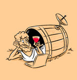 Diogenes Greek  technology antiquity cartoon Stock Photo